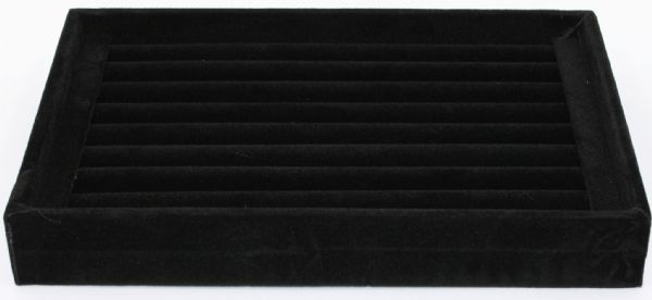 Large black velvet ring tray
